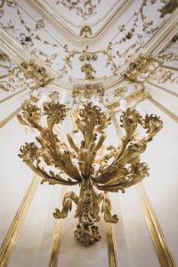 Wenckheim-palota nagy báltermének egyik dísze