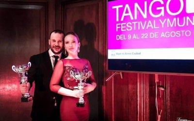 Winners of the UK Tango Festival & Championship 2018. – Andrea Serban & Endre Szeghalmi
