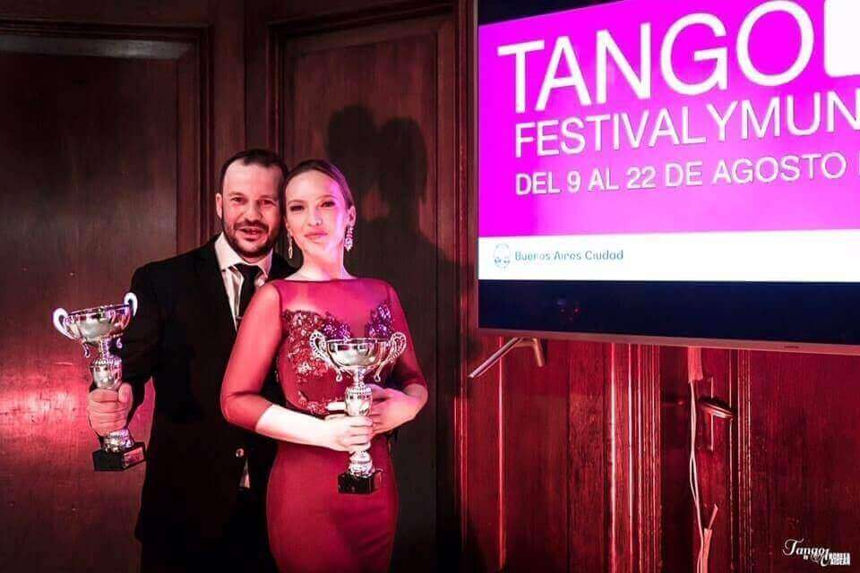 Winners of the UK Tango Festival & Championship 2018. – Andrea Serban & Endre Szeghalmi