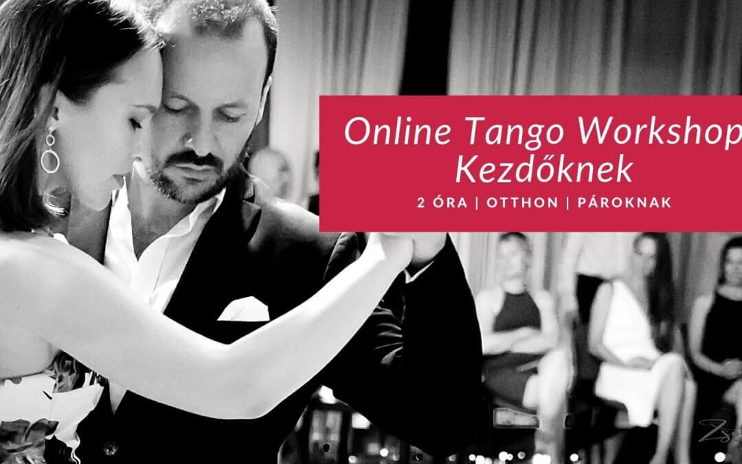 Online Tangó Workshop Kezdőknek: ápr. 3 szombat, 17:00-19:00